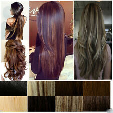 Real Natural 3/4 Full Head Clip In Hair Extensions Straight Wavy Any Colors hgs