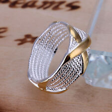 Fashion jewelry models S80 silver dichroic X Ring Size 6-9 H168