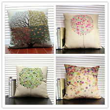 Hot Sell Colorful Trees Throw Sofa Decor Pillow Case Cushion Cover