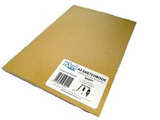 A4 Brown Kraft Artist Sketch Books Drawing Sketching Paper Pads Laminated 140gsm
