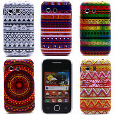 Feather Stripe Waves Image Hard Back Shell Case Cover for Samsung Galaxy Y S5360