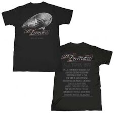 LED ZEPPELIN CITIES 1977 ROCK TOUR VINTAGE NEW MEN T-SHIRT BLACK SIZE S M L XL