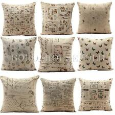 Vintage Navigation Linen Pillow Case Throw Cushion Cover Home Decor Sofa Bed