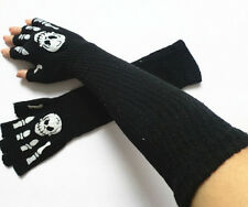 Lot Black Halloween Popular Arm Warmer Fashion Long Gloves Skull Party Gift