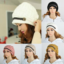 Woman Warm Winter Braided Rageared Baggy Beanie Knit Crochet Ski Hat Cap JT11