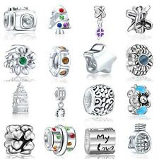 2015 SALE 16PC Set Silver plated beads for European charm bracelet Free Shipping