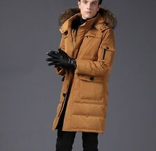 NEW THICKEN MENS FURRY HOODIE WINTER PARKA REALY DUCK DOWN OUTWEAR COATS M-3XL