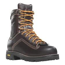 """NEW Danner 400g NMT Quarry Work Boots 8"""" Brown Leather Gore-Tex Waterproof 14552"""