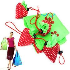 Cute Foldable Strawberry Shopping Eco Reusable ShoulderBag Compact Handbag Pouch