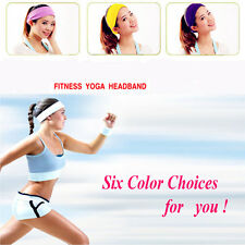 Mens Womens Fashion Cotton Dance Yoga Sports Gym Sweatband  Headband Wristband
