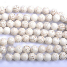 Wholesale Round Loose White Turquoise Charm Spacer Beads Jewelry 6/8/10/12/14mm