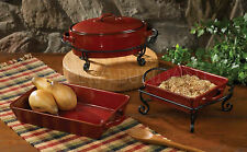 Aspen Bakeware by Park Designs, Durable Stoneware, Choice of 3 Styles, 1 or Set