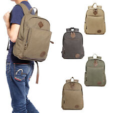 Mens Vintage Canvas Backpack Satchel Rucksack Travel Camping Bag School Bag