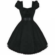 Black Vintage 50s Fifties 50s Rockabilly Pinup Party Prom Dress