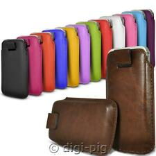 COLOUR (PU) LEATHER PULL TAB POUCH CASES FOR NOKIA 106 MOBILE PHONES