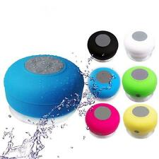 Waterproof Mini Wireless Bluetooth Handsfree Suction Speaker Shower Mic Car TL