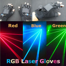 1Pc High Bright 532nm Green Red LED Laser Gloves Stage Light Dance DJ Show Beam