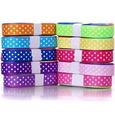 "25YDS GROSGRAIN  RIBBON many colours 3/8"" 5/8"" dotty 4 hairbow cheap wholesale"