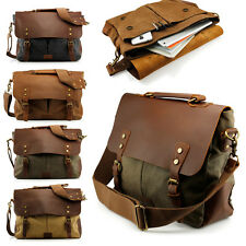 Vintage Men's Canvas Shoulder Bag Casual School Military Messenger Travel Bag