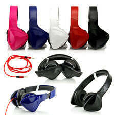 Adjustable Over Ear Earphone Headphone Stereo For Ipod Iphone Mp3 Mp4 Pc 3.5mm