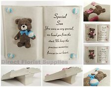 TEDDY BEAR BOOK, GRAVE SIDE CHILD MEMORIAL TRIBUTE DAUGHTER SON BROTHER SISTER