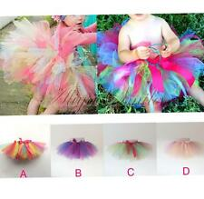 1-6Y Girls Kids Dress Skirt Party Dance Wear Tutu Pettiskirt Costume Colorful