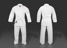 Brand New Kids 100% Cotton White Student Karate Gi/Suit/Uniform + Free Belt