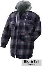 Big & Tall Men's Falcon Bay Full Zip Hoodie Jacket Quilted Lined 2XL 6XL 3XLT