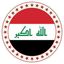 NEW Printed T-SHIRT, Quality IRAQ Roundel Stars FLAG, All Sizes, All Colours