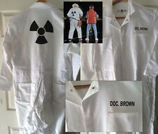 BACK TO THE FUTURE DOC BROWN Hi Quality Radiation JUMPSUIT COSTUME Halloween