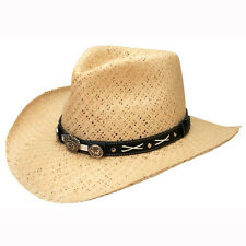 Jack Daniels Straw Hat Natural Color Great Golf Outdoor Hat Sizes M, L, XL