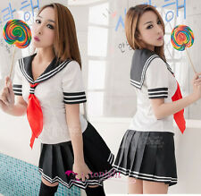Sexy Lingerie Japan School Girl Uniform Adult Fancy Dress Outfit Cosplay Costume