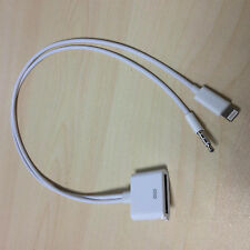 8 pin to 30 pin Audio Dock Adapter Converter Cable For iPhone 6/5 iPod iPad4