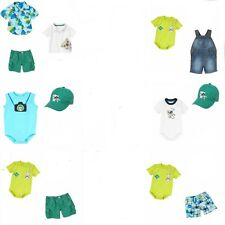 Gymboree Lemur Lagoon Sets-Bodysuit,Shorts,Hat,Polo Top,Socks-0 3 6 12 18 24 NWT