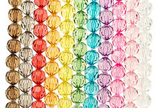 10 PCS FACETED ROUND 20MM BEADS TRANSPARENT VINTAGE CHUNKY ACRYLIC BEAD DIY