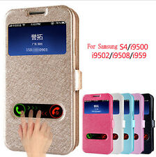 For Samsung Galaxy S4 I9500 PU Leather S-View Flip Stand  Case Cover New