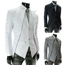 Vintage Asymmetry Men tailored Suits Casual Single breasted Jacket Coat Blazer H