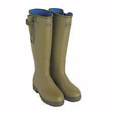 NEW Ladies Le Chameau Vierzonord Wellington Boots Neoprene Lined Adjustable Calf