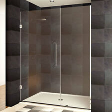LessCare 30-48 x 72-inch Frameless Chrome Finish Clear Glass Shower Doors