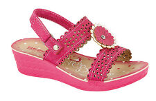 Girls Spring Summer Break Sandals Gladiators Shoes Size 9 - 2 Beach Molly Fushia