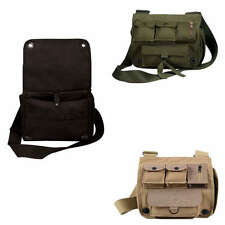 Olive Drab Green Black Khaki Tan Canvas Survivor Day Travel Shoulder Bag Pack