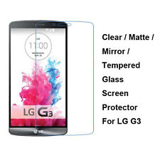 Tempered Glass / Clear / Matte / Mirror Front Screen Film Protector For LG G3