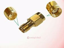 NEW RP-SMA Male to SMA Female Jack Straight RF Antenna Connector Adapter w/o Pin