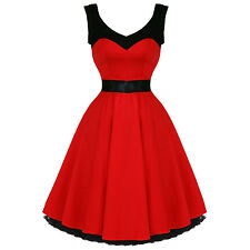 Hearts & Roses London Red Vintage 50s Party Prom Swing Full Flare Circle Dress