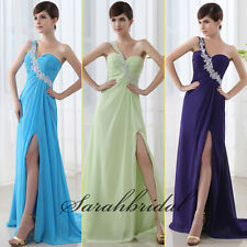 UK6-20 Cheap One Shoulder Women Long Party Prom Dresses Cocktail Evening Gowns