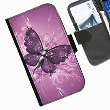 Butterfly A  Leather wallet personalised phone case for HTC1 Models