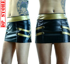 LIP SERVICE VEGI LEATHER VINYL PVC DOMINATRIX FETISH GOTHIC GOTH STEAMPUNK SKIRT