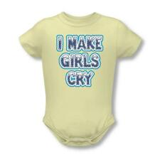 I Make Girls Cry Infant Snapsuit Onesie One Piece Soft Yellow
