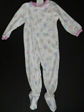 NWT Carter's 2T 5T Girl's Owl Microfleece Footed One-Piece Pajamas White