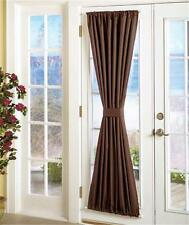 BLACKOUT SIDELIGHT DOOR CURTAIN PANEL WINDOW TREATMENT TIE-BACK-2 SZ 2 COLORS